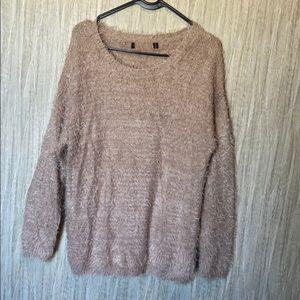 Soft dusty pink oversized sweater